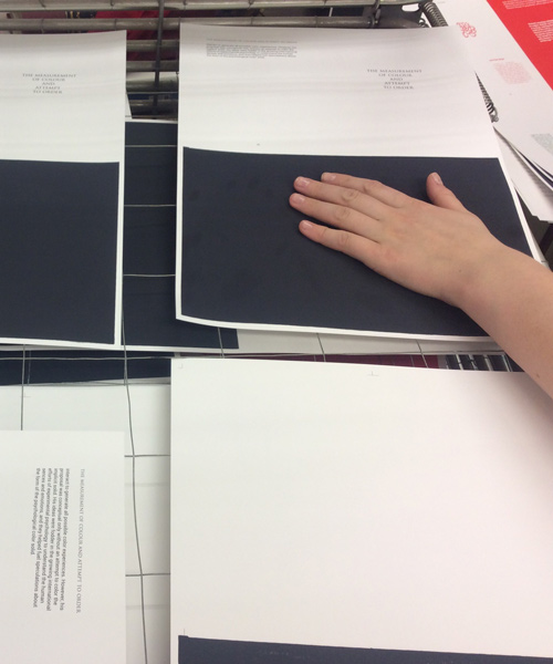 book printing and thermochrome process by Anna Baydak